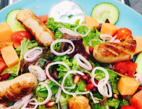 ExtraChiliBratWurst und MinzDipp … auf  der Speisekarte @bistro_rapunzel in Meerbusch – Lank