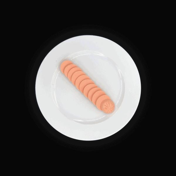 Proteinreiche Schinkenwurst