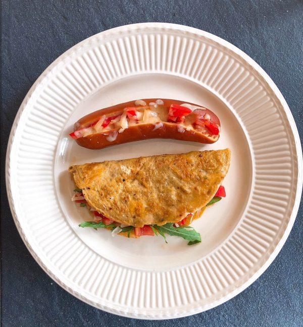 leckere Krakauer Wurst mit Taco