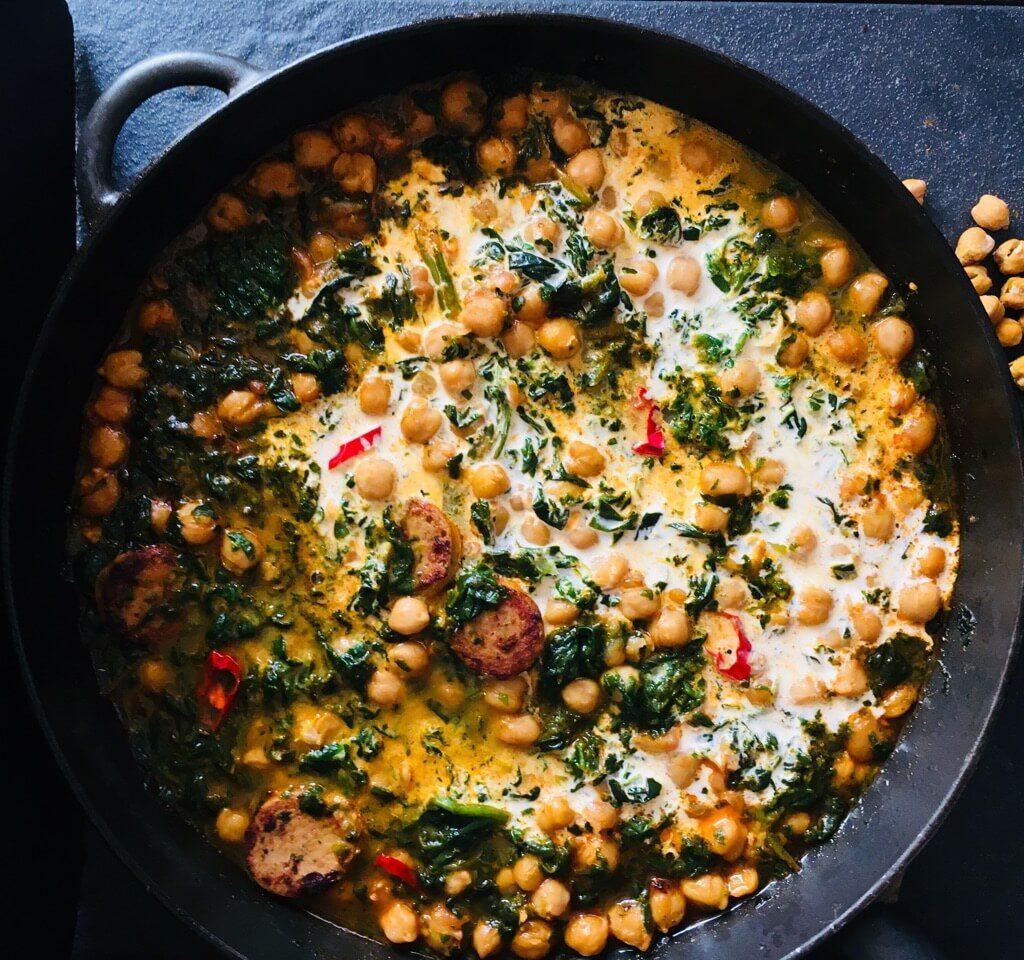Extrarezept Kichererbsen Curry gesund